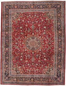 Mashad Matto 302X395 Itämainen Käsinsolmittu Tummanpunainen/Tummanruskea Isot (Villa, Persia/Iran)