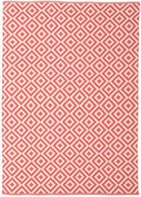 Torun - Coral/Neutral Matto 140X200 Moderni Käsinkudottu Punainen/Vaaleanpunainen (Puuvilla, Intia)