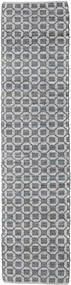 Elna - Harmaa Matto 80X250 Moderni Käsinkudottu Käytävämatto Vaaleanharmaa/Violetti (Puuvilla, Intia)