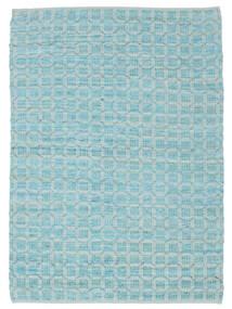 Elna - Bright_Blue Matto 200X300 Moderni Käsinkudottu Vaaleansininen/Siniturkoosi (Puuvilla, Intia)