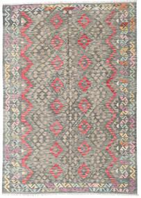 Kelim Afghan Old Style Matto 179X255 Itämainen Käsinkudottu Vaaleanharmaa/Tummanharmaa (Villa, Afganistan)