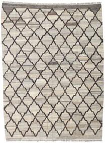 Kelim Ariana Matto 134X181 Moderni Käsinkudottu Vaaleanharmaa/Tummanharmaa (Villa, Afganistan)