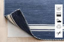 Anti Slip, Non-Woven Matto 80X300 Moderni Käytävämatto Sininen/Vaaleanharmaa ( Belgia)