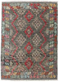 Kelim Afghan Old Style Matto 127X177 Itämainen Käsinkudottu Tummanharmaa/Vaaleanharmaa (Villa, Afganistan)