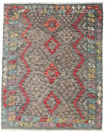 Kelim Afghan Old Style Matto 135X168 Itämainen Käsinkudottu (Villa, Afganistan)