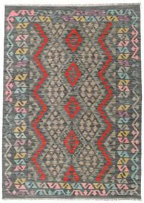 Kelim Afghan Old Style Matto 128X180 Itämainen Käsinkudottu Tummanharmaa/Vaaleanharmaa (Villa, Afganistan)