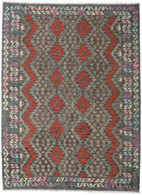 Kelim Afghan Old Style Matto 173X235 Itämainen Käsinkudottu Tummanharmaa/Vaaleanharmaa (Villa, Afganistan)