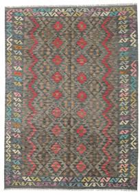 Kelim Afghan Old Style Matto 176X241 Itämainen Käsinkudottu Tummanharmaa/Vaaleanharmaa (Villa, Afganistan)