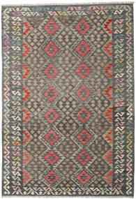 Kelim Afghan Old Style Matto 168X275 Itämainen Käsinkudottu Tummanharmaa/Vaaleanharmaa (Villa, Afganistan)