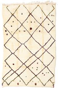 Berber Moroccan - Beni Ourain Matto 198X312 Moderni Käsinsolmittu Beige/Tummanbeige (Villa, Marokko)