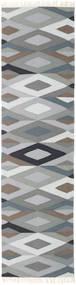 Zimba - Harmaa Matto 80X300 Moderni Käsinkudottu Käytävämatto Vaaleanharmaa/Tummanharmaa (Villa, Intia)