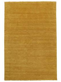 Handloom Fringes - Keltainen Matto 100X160 Moderni Vaaleanruskea/Keltainen (Villa, Intia)