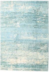Damask Collection Matto 193X282 Moderni Käsinsolmittu Siniturkoosi/Vaaleansininen ( Intia)