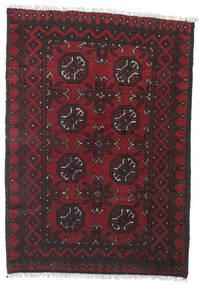 Afghan Matto 78X109 Itämainen Käsinsolmittu Tummanpunainen/Musta (Villa, Afganistan)