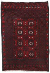 Afghan Matto 80X113 Itämainen Käsinsolmittu Tummanpunainen/Musta (Villa, Afganistan)