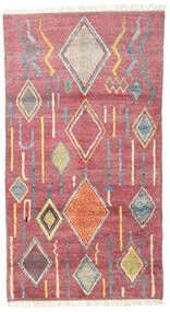Moroccan Berber - Afghanistan Matto 101X184 Moderni Käsinsolmittu Pinkki/Ruskea (Villa, Afganistan)