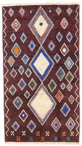 Moroccan Berber - Afghanistan Matto 101X179 Moderni Käsinsolmittu Tummanruskea/Tummanvioletti (Villa, Afganistan)