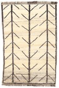 Moroccan Berber - Afghanistan Matto 92X140 Moderni Käsinsolmittu Beige/Tummanbeige (Villa, Afganistan)