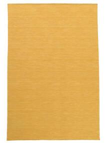 Kelim Loom - Keltainen Matto 140X200 Moderni Käsinkudottu Vaaleanruskea/Keltainen (Villa, Intia)