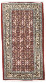 Moud Matto 73X132 Itämainen Käsinsolmittu Vaaleanharmaa/Tummanpunainen (Villa/Silkki, Persia/Iran)