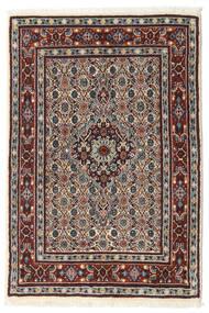 Moud Matto 77X114 Itämainen Käsinsolmittu Tummanruskea/Beige (Villa/Silkki, Persia/Iran)