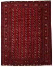 Turkaman Patina Matto 305X390 Itämainen Käsinsolmittu Tummanpunainen/Tummanruskea Isot (Villa, Persia/Iran)