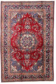 Mashad Matto 200X300 Itämainen Käsinsolmittu Punainen/Tummanvioletti (Villa, Persia/Iran)
