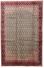 Hamadan Matto 197X300 Itämainen Käsinsolmittu Tummanvioletti/Vaaleanruskea (Villa, Persia/Iran)