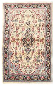 Kerman Matto 88X140 Itämainen Käsinsolmittu Vaaleanruskea/Beige (Villa, Persia/Iran)
