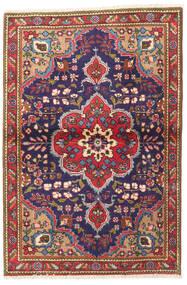Tabriz Matto 100X145 Itämainen Käsinsolmittu Tummanpunainen/Tummanvioletti (Villa, Persia/Iran)