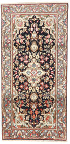 Kerman Matto 95X190 Itämainen Käsinsolmittu Vaaleanruskea/Beige (Villa, Persia/Iran)