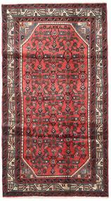 Hosseinabad Matto 103X190 Itämainen Käsinsolmittu Tummanpunainen/Ruoste (Villa, Persia/Iran)