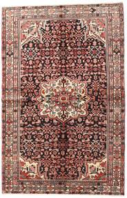 Hosseinabad Matto 145X223 Itämainen Käsinsolmittu Tummanruskea/Ruskea (Villa, Persia/Iran)