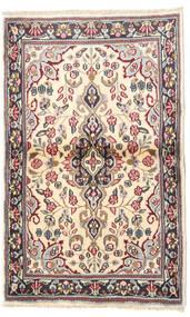 Kerman Matto 90X140 Itämainen Käsinsolmittu Beige/Tummanharmaa (Villa, Persia/Iran)