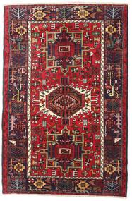 Heriz Matto 130X200 Itämainen Käsinsolmittu Tummanruskea/Tummanpunainen (Villa, Persia/Iran)