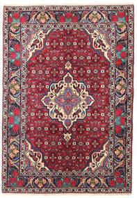Bidjar Matto 101X144 Itämainen Käsinsolmittu Tummanvioletti/Tummanpunainen (Villa, Persia/Iran)