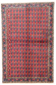 Wiss Matto 100X155 Itämainen Käsinsolmittu Tummanharmaa/Punainen (Villa, Persia/Iran)