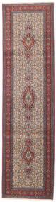 Moud Matto 77X288 Itämainen Käsinsolmittu Käytävämatto Tummanpunainen/Tummanruskea (Villa/Silkki, Persia/Iran)