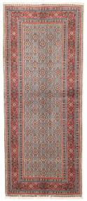 Moud Matto 82X198 Itämainen Käsinsolmittu Käytävämatto Tummanpunainen/Vaaleanharmaa (Villa/Silkki, Persia/Iran)