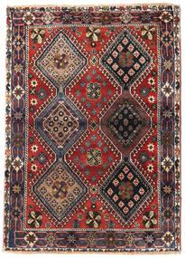 Yalameh Matto 115X162 Itämainen Käsinsolmittu Tummanruskea/Tummanpunainen (Villa, Persia/Iran)