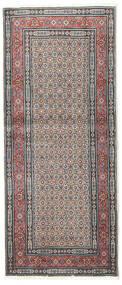 Moud Matto 84X195 Itämainen Käsinsolmittu Käytävämatto Vaaleanharmaa/Beige (Villa/Silkki, Persia/Iran)