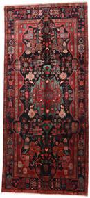 Nahavand Matto 160X360 Itämainen Käsinsolmittu Käytävämatto Tummanpunainen/Musta (Villa, Persia/Iran)