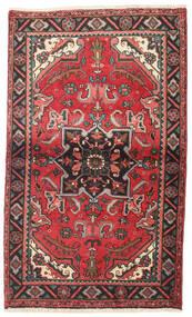 Heriz Matto 87X145 Itämainen Käsinsolmittu Tummanpunainen/Tummanruskea (Villa, Persia/Iran)