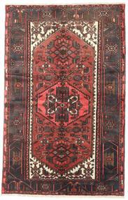 Hamadan Matto 125X193 Itämainen Käsinsolmittu Tummanruskea/Tummanpunainen (Villa, Persia/Iran)