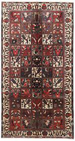 Bakhtiar Matto 155X290 Itämainen Käsinsolmittu Käytävämatto Tummanruskea/Tummanpunainen (Villa, Persia/Iran)