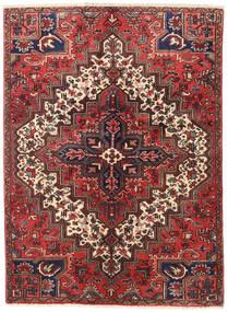 Heriz Matto 137X187 Itämainen Käsinsolmittu Tummanpunainen/Tummanruskea (Villa, Persia/Iran)