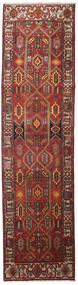 Heriz Matto 100X383 Itämainen Käsinsolmittu Käytävämatto Tummanpunainen/Vaaleanruskea (Villa, Persia/Iran)