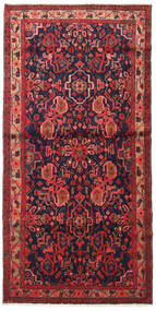Nahavand Matto 110X225 Itämainen Käsinsolmittu Tummanpunainen/Musta (Villa, Persia/Iran)
