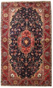 Heriz Matto 135X225 Itämainen Käsinsolmittu Tummanpunainen/Musta (Villa, Persia/Iran)