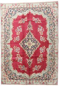 Kerman Matto 195X275 Itämainen Käsinsolmittu Beige/Tummanpunainen (Villa, Persia/Iran)